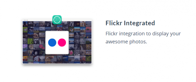 MOTO theme feature_flickr integrated