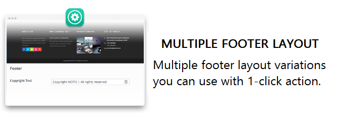 MOTO theme feature_multiple footer layout