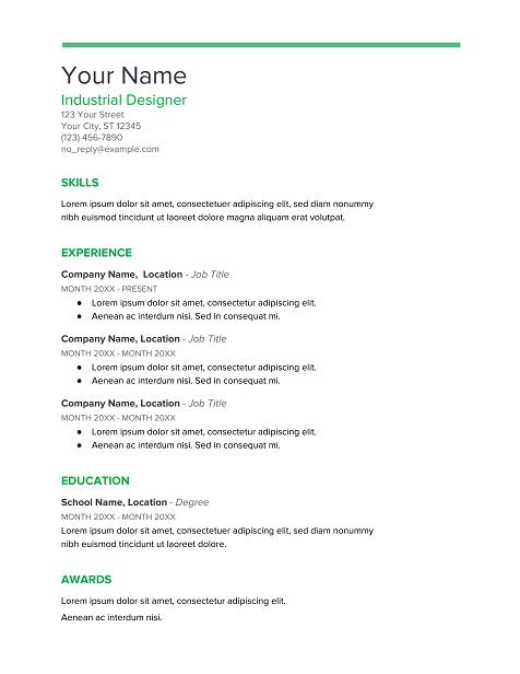 Spearmint-Google-Docs-Resume-Template