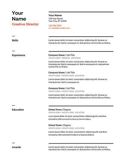 Free Resume Templates (Download Here) 2