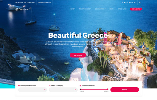 CSS Igniter Cousteau Pro WordPress Theme
