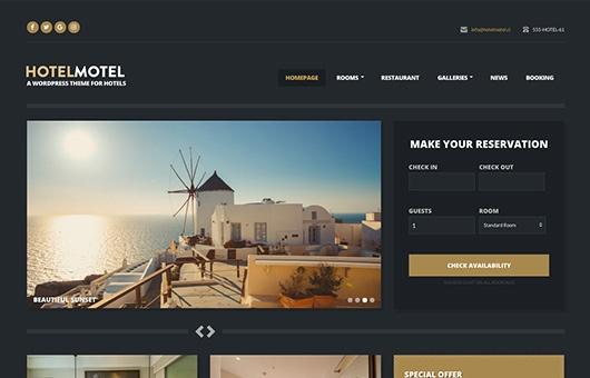 CSS Igniter Hotelmotel WordPress Theme 1