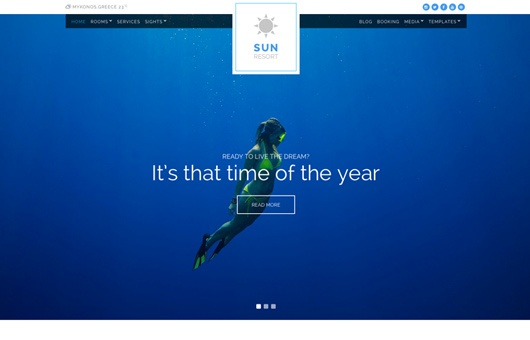 CSS Igniter Sunresort WordPress Theme