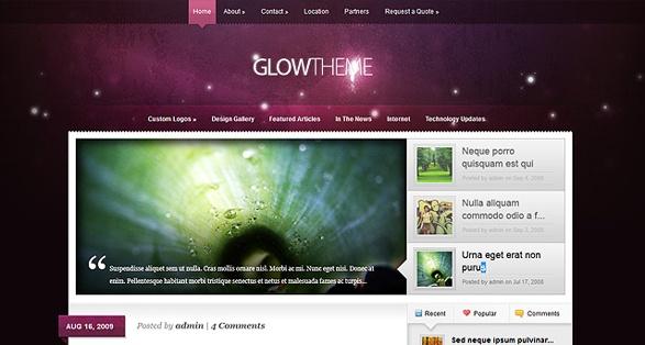 Elegant Themes Glow WordPress Theme 1