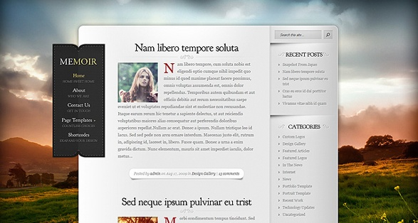 Elegant Themes Memoir WordPress Theme