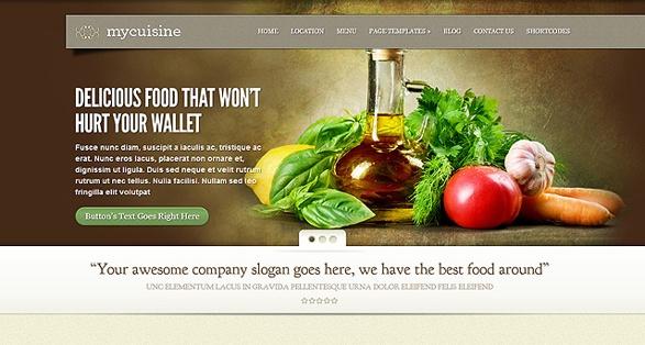 Elegant Themes MyCuisine WordPress Theme