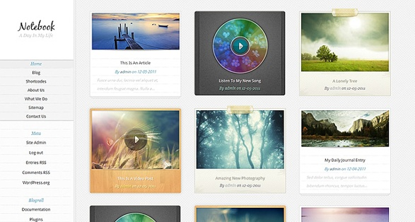 Elegant Themes Notebook WordPress Theme