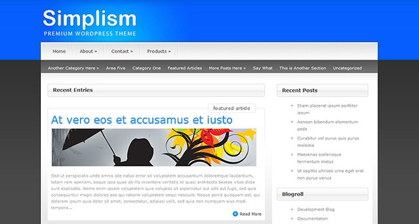 Elegant Themes Simplism WordPress Theme