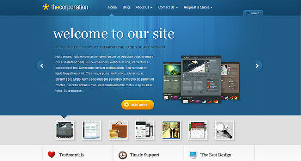 Elegant Themes The Corporation WordPress Theme