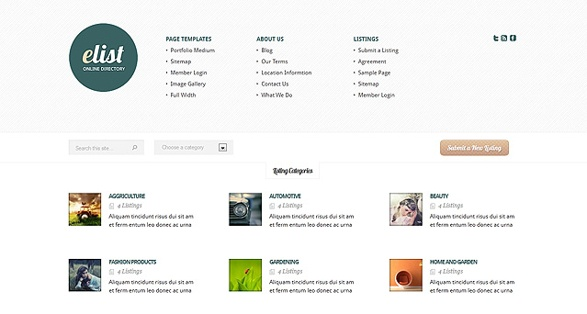 Elegant Themes eList WordPress Theme