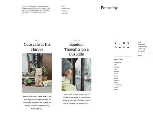 Elmastudio Ponsonby WordPress Theme