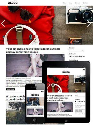 dessign blogg responsive wordpress theme