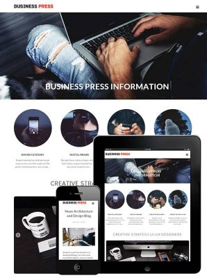 dessign business press responsive wordpress theme