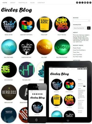 Dessign Circles Blog Responsive WordPress Theme 1