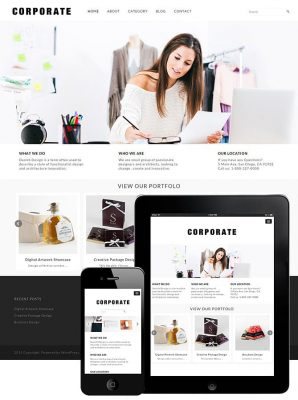 dessign corporate theme responsive wordpress