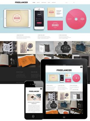 dessign freelancer responsive wordpress theme