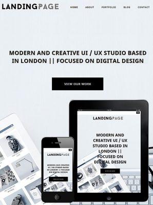 dessign landing page responsive wordpress theme