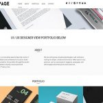 dessign one page responsive wordpress theme
