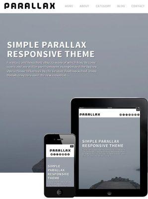dessign parallax responsive wordpress theme