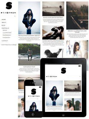 dessign side grid responsive wordpress theme