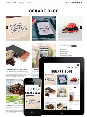 dessign square blog responsive wordpress theme