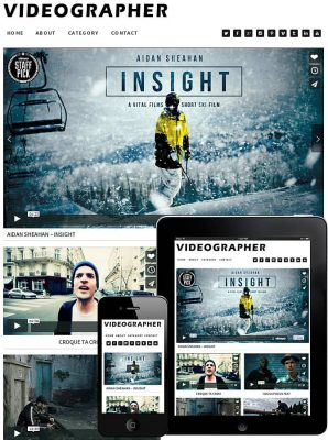 dessign videographer responsive wordpress theme