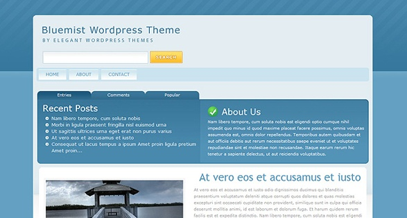 elegant themes bluemist wordpress theme