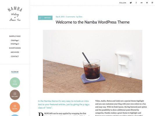 elma studio namba wordpress theme