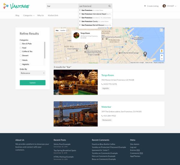 Vantage Premium Directory WordPress Theme 1