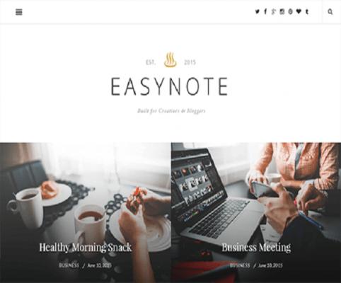 EasyNote WordPress Theme 1