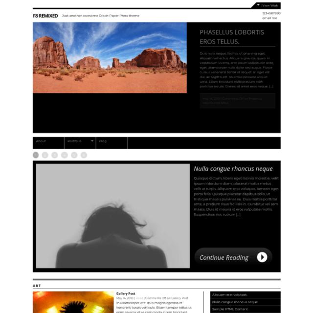 Graph Paper Press F8 Remixed WordPress Theme
