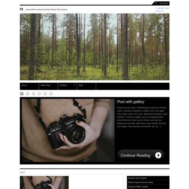 Graph Paper Press F8 WordPress Theme