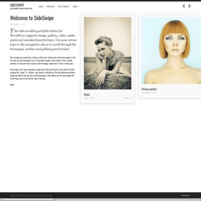 Graph Paper Press Sideswipe WordPress Theme