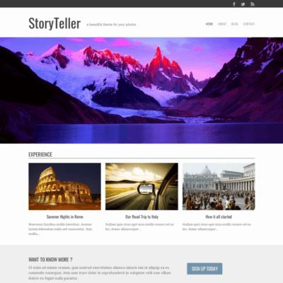 Graph Paper Press Storyteller WordPress Theme