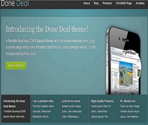 Obox Themes Done Deal WordPress Theme