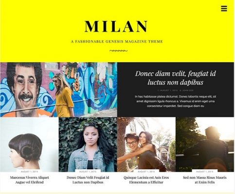 StudioPress Milan Pro WordPress Theme