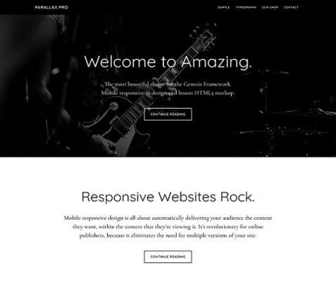 StudioPress Parallax Pro WordPress Theme