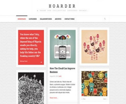 ThemeZilla Hoarder WordPress Theme