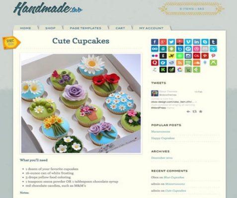 Obox Themes Handmade Two WordPress Theme