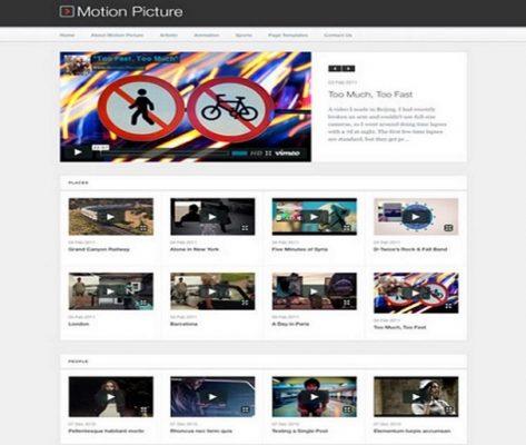 obox themes motion picture wordpress theme