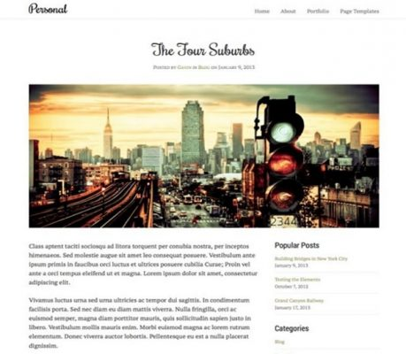 obox themes personal wordpress theme