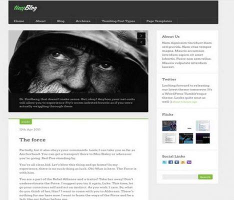 obox themes tinyblog wordpress theme