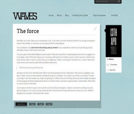 obox themes waves wordpress themes