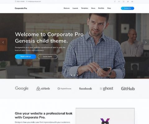 studiopress corporate wordpress theme