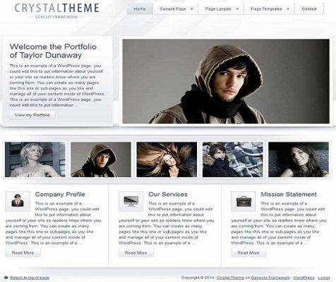 studiopress crystal wordpress theme