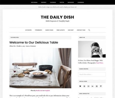 studiopress daily dish wordpress theme
