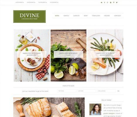 studiopress divine wordpress theme