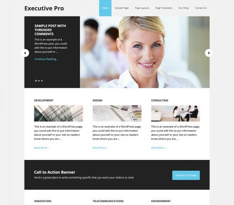 studiopress executive pro wordpress theme