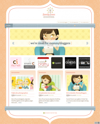 studiopress family tree wordpress theme
