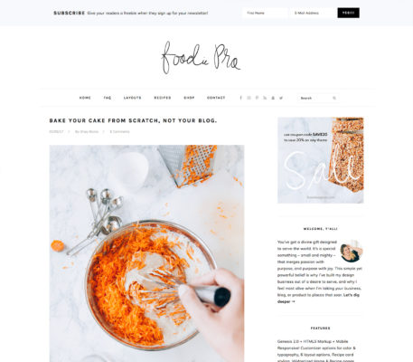 studiopress foodie pro wordpress theme